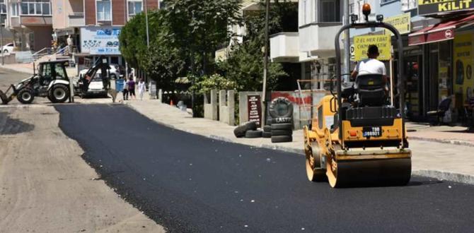 Büyükşehir Belediyesi Çerkezköy ve Şarköy'de Yol Yapım Çalışmalarına Devam Ediyor