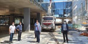 Başkan Albayrak Yeni Belediye Binasında İncelemelerde Bulundu