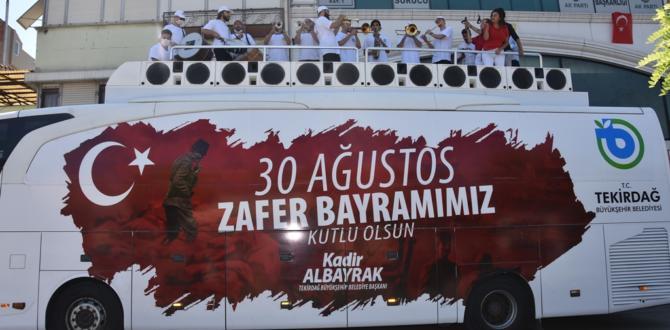Tekirdağ'da 30 Ağustos Zafer Bayramı Coşkusu