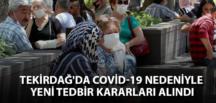 TEKİRDAĞ İL PANDEMİ KURULU KARARI