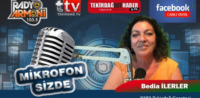 GAZETECİ BEDİA İLERLER ARMONİFM'DE