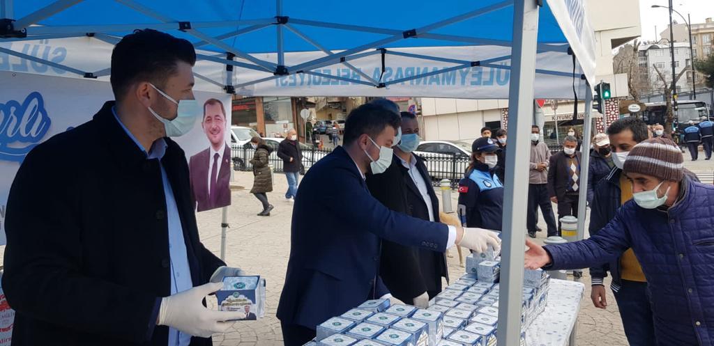 Süleymanpaşa Belediyesinden Miraç Kandili dolayısıyla kandil simidi ikramı