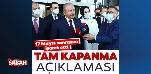 Son dakika: TBMM Başkanı Mustafa Şentop'tan normalleşme açıklaması: Belli program dahilinde…