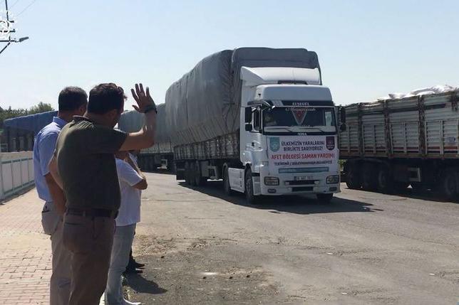 Süleymanpaşa'dan yangın bölgesine yardım eli